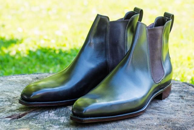 Black chelsea bespoke boots