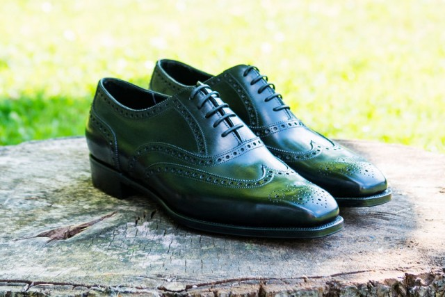 bespoke brogue shoes