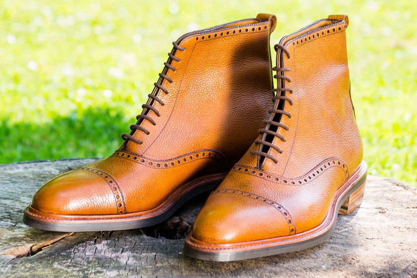 bespoke long wing boots